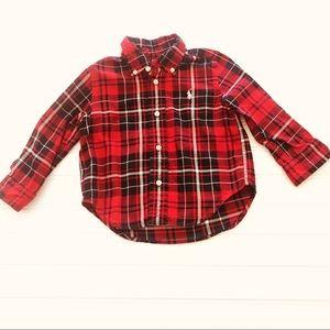 Ralph Lauren Red Plaid Button Down Dress Shirt